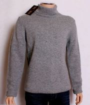 HOLLAND ESQUIRE HAND CUSTOMISED 100%LAMBSWOOL Roll Neck Jumper Sweater LGE BNWT